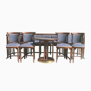 Antique Chairs & Sofa Set by by Josef Hoffmann for Thonet, Set of 8
