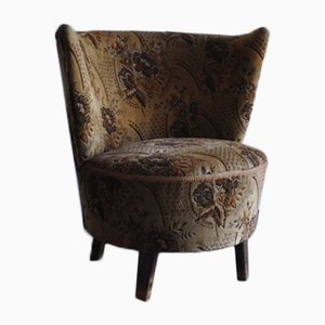 Mid-Century Fabric and Wood Armchair, 1950s