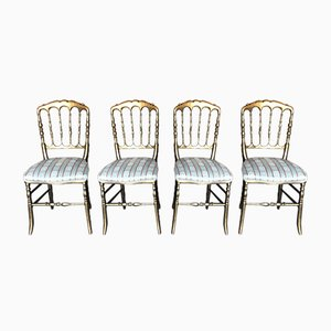 Antique Parisienne Gilt Chairs Dining Chairs, Set of 4