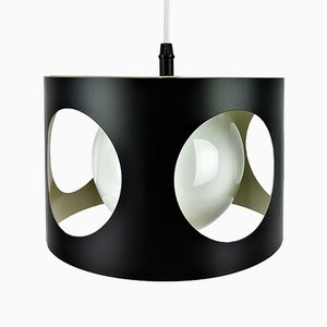 Large Vintage Black Pendant Lamp, 1960s