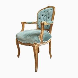 Antique Baroque Green Chair