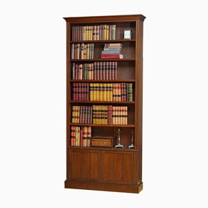 Antique Late Victorian Open Bookcase in Walnut