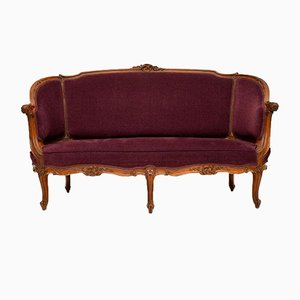 French Carved Walnut Sofa, 1920s