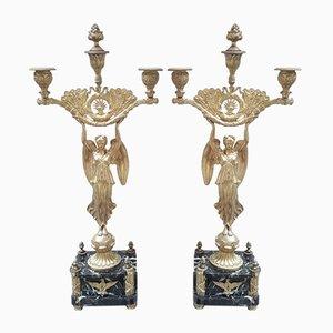 Gilded Bronze Candleholder, 1940s