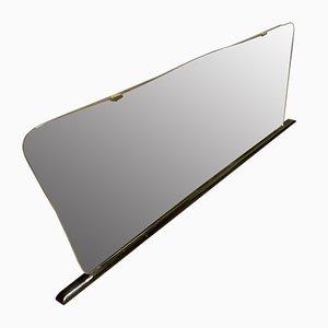 Holz Spiegel mit schwarzem Lack und Messing Lack, 1960er