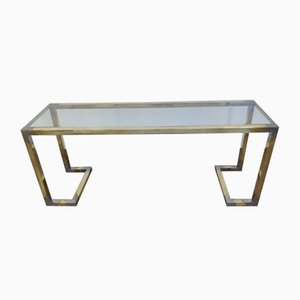 Brass Console Table by Guy Lefevre, 1970s