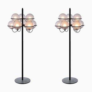 Lámparas de pie 1094 de Gino Sarfatti para Arteluce, años 60. Juego de 2
