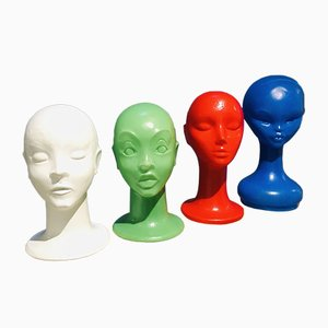 Plastic Heads, 1974, Set of 4