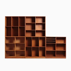 Mid-Century Danish Bookcases in Oak by Mogens Koch for Rud. Rasmussen, 1950s, Set of 5