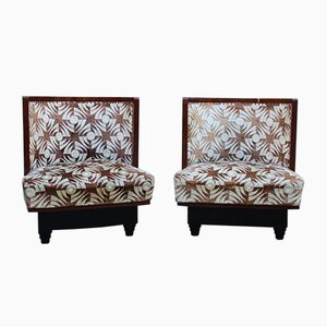 Small Art Deco Bedroom Chairs Attributed to Atelier Borsani Varedo, 1930s, Set of 2