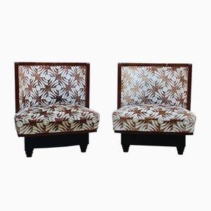 Small Art Deco Bedroom Chairs Attributed to Atelier Borsani Varedo, 1930s, Set of 2
