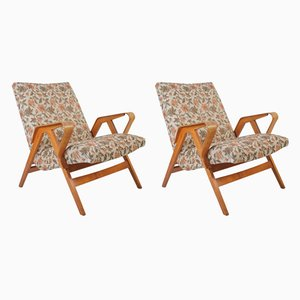 Mid-Century Lounge Chairs by František Jirák for Tatra, 1960s, Set of 2