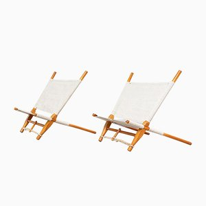 Safari Saw Lounge Chairs by Ole Gjerløv Knudsen, 1950s, Set of 2