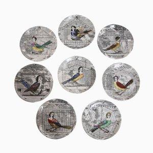 Petites Assiettes Le Arpie Vintage par Piero Fornasetti pour Atelier Fornasetti, Set de 8