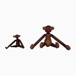 Teak Monkeys by Kay Bojesen, 1950s, Set of 2