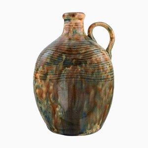 Jarra modernista antigua de cerámica esmaltada de Gustaf Johnn para Höganäs