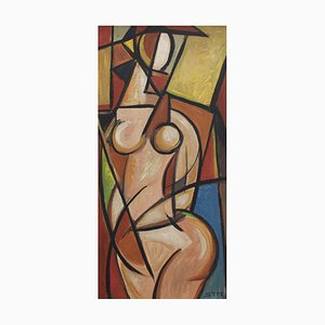 Standing Cubist Nude by STM, 1950s