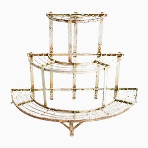 French 3-Tier Rustic Plant Stand, 1940s