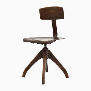 Dark Wooden Swivel Ama Elastik Chair, 1930s