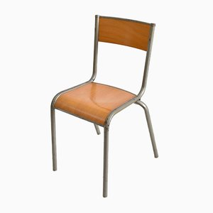 Silver French School Mullca Chair, 1960s