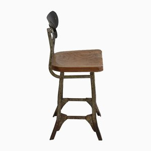 Vintage TanSad Factory Workers Stool, 1950s