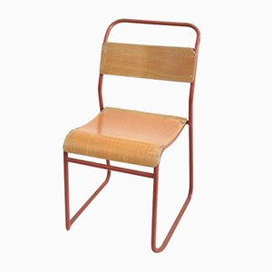 Vintage Pel Stacking School Chair, 1940s