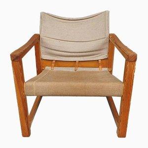 Mid-Century Kiefernholz Sling Chair von Karin Mobring für Ikea, 1970er