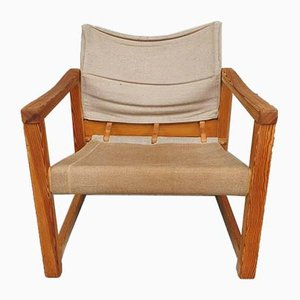 Mid-Century Pine Sling Chair by Karin Mobring for Ikea, 1970s