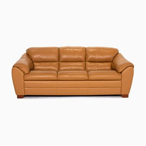 Mustard Yellow Leather 2-Seat Sofa from Mondo