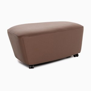 Brown Leather Drift Stool by EOOS Design for Walter Knoll