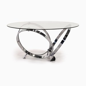 Glass and Metal Coffee Table by Knut Hesterberg for Ronald Schmitt