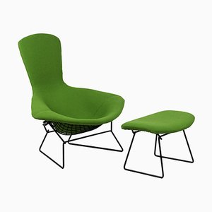 Bird Armchair & Ottoman by Harry Bertoia for Knoll International, 1970s, Set of 2