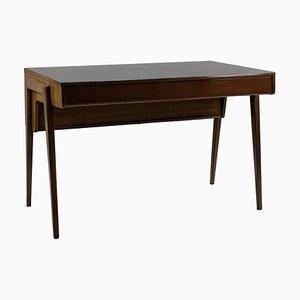 Desk in Mahogany Veneer with Compass Legs 1950s