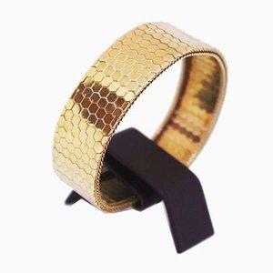 Bracciale largo in oro 14 kt con disegno di Arlecchino, Italia
