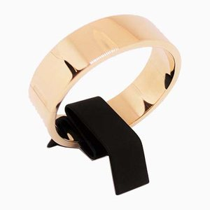 Massive 14 Karat Gold Bangle by Hans Hansen, 1940s