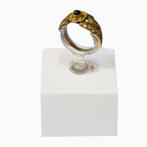Ring 18kt Gold with a Sapphire from Georg Jensen, 1920s