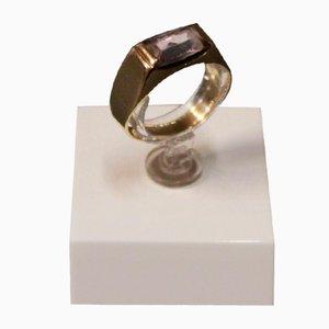 Ring in 14 Karat Gold mit Lila Stein von BVH