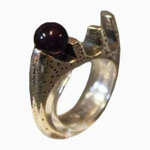 Ring in Sterling Silver 925 with Purple Stone from Musse