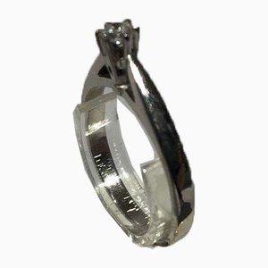 14kt Ring in Weißgold mit 0,10 kt Brilliant von Gifa