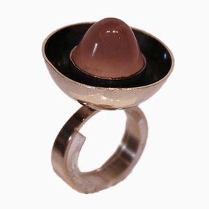 925 Sterling Silver Ring with Pink Stone from From