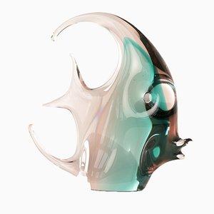 Italian Murano Scalar Fish Sculpture, 1965