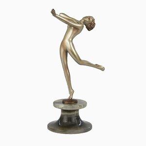 Wiener Art Deco Bronzefigur von Lorenzl, 1930