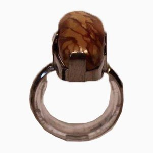 Ring with Tiger Eye Stones and 830 Silver
