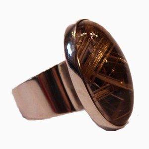 Anello in argento sterling con pietra chiara di NE From