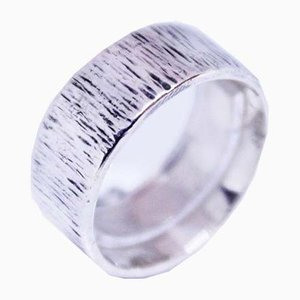 Wide Silver Ring with Pattern