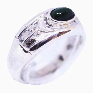 925 Sterling Silber mit kleinem Jade Stein