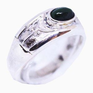 925 Sterling Silver with Small Jade Stone