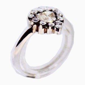Ring aus 14 Karat Weißgold mit 13 Diamanten von 1,08 Karat