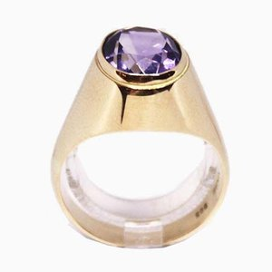 Ring 14kt Gold Decorated with Amethyst from Vasa