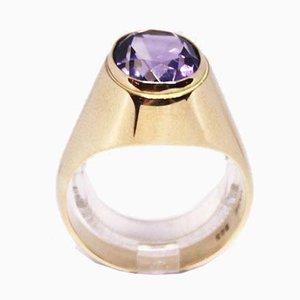 Ring 14kt Gold verziert mit Amethyst von Vasa